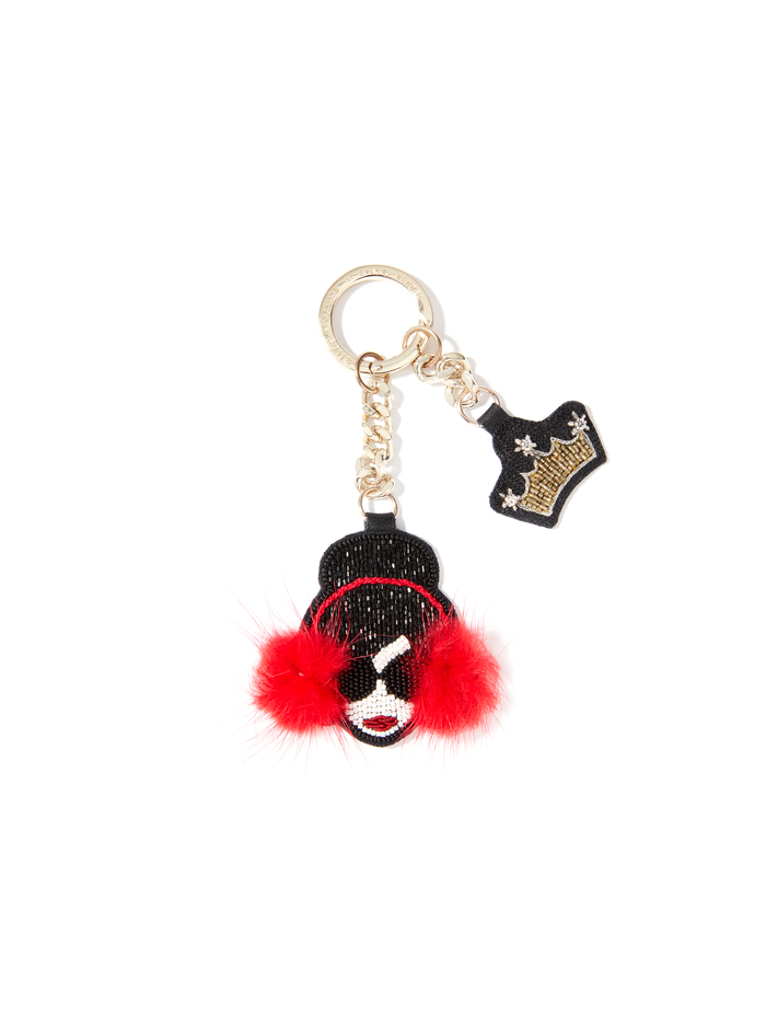 STACE FACE CRYSTAL KEY CHARM - MULTI - Alice And Olivia