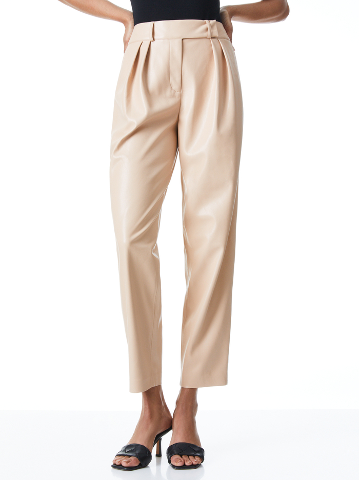 SHELBY HW CRSSVR WB ANKLE PANT - ALMOND - Alice And Olivia