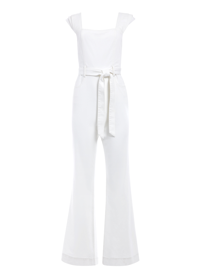 GORGEOUS PLEATED JUMPSUIT - VINTAGE SUGAR - Alice And Olivia