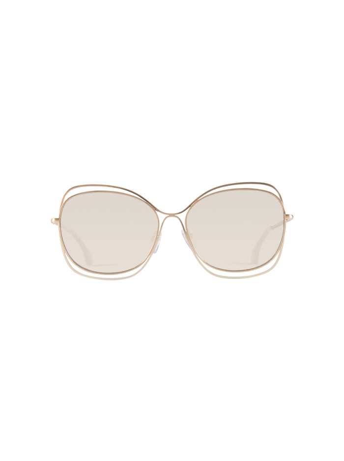 COLLINS SUNGLASSES - SHINY SOFT GOLD - Alice And Olivia