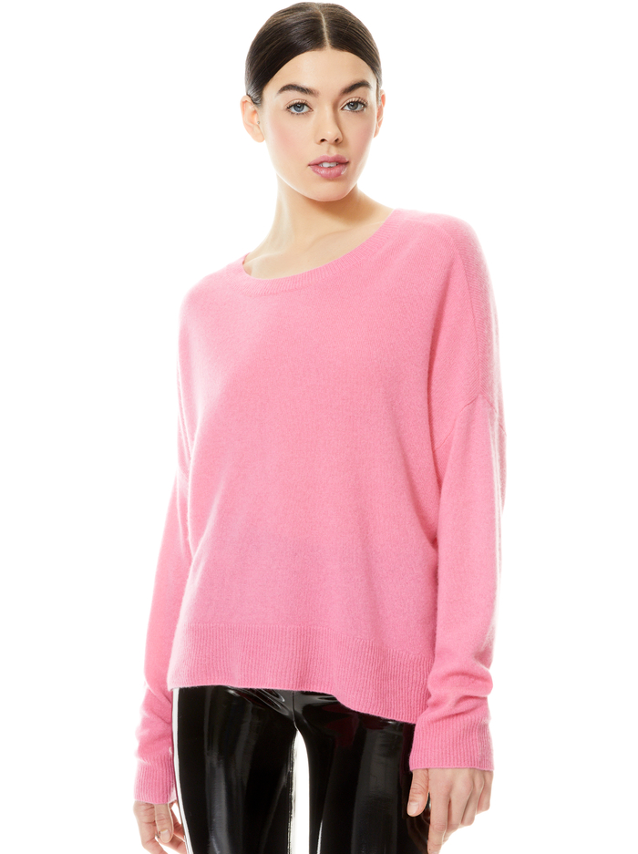 ROMA OVERSIZED PULLOVER - CALYPSO PINK - Alice And Olivia