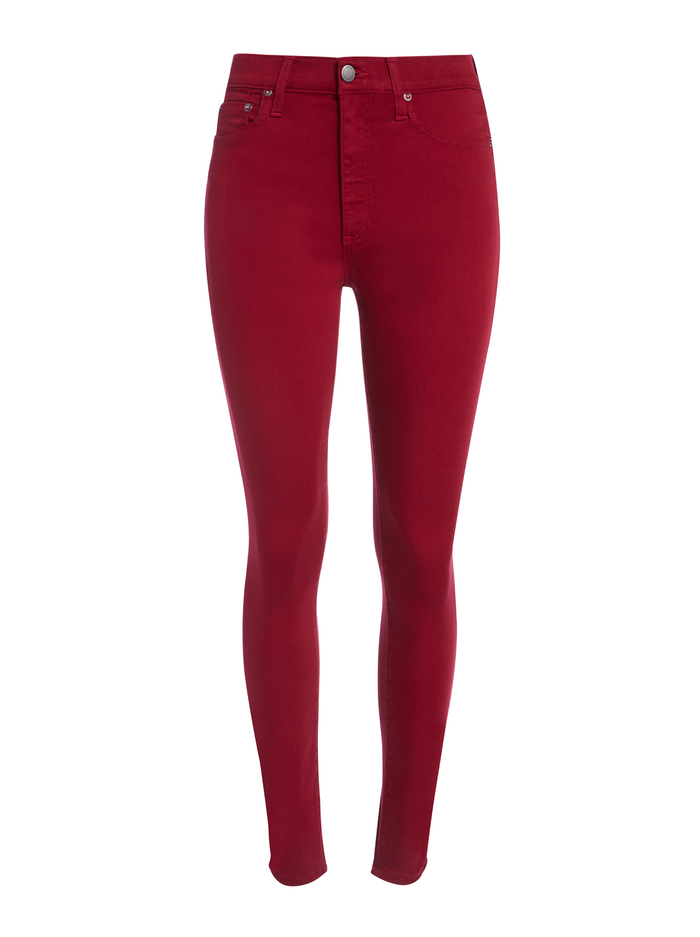 GOOD HIGH RISE SKINNY JEAN - BORDEAUX - Alice And Olivia