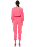 BERNETTA PULLOVER WITH DRAWSTRING - WILD PINK