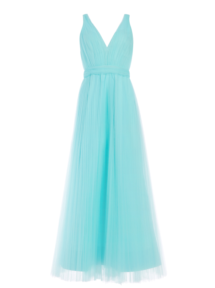 JOLIE TULLE  BALL GOWN - POWDER BLUE - Alice And Olivia