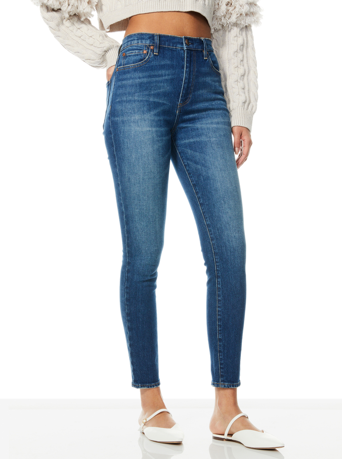 GOOD HIGH RISE SKINNY JEAN - CHEEKY BLUES - Alice And Olivia