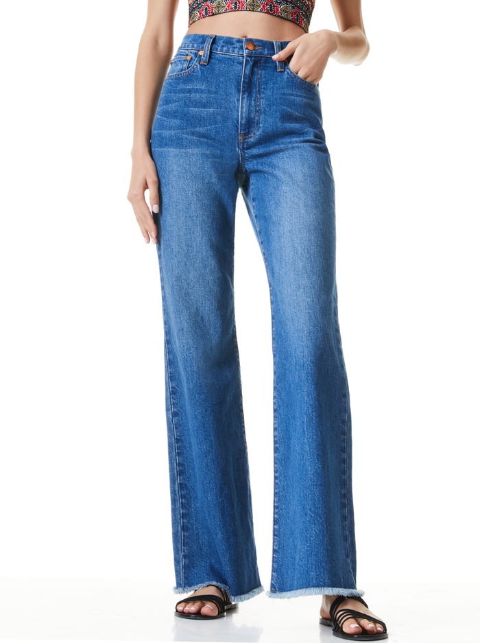 FABULOUS 70S BOOTCUT JEAN - BEST INTENTIONS - Alice And Olivia