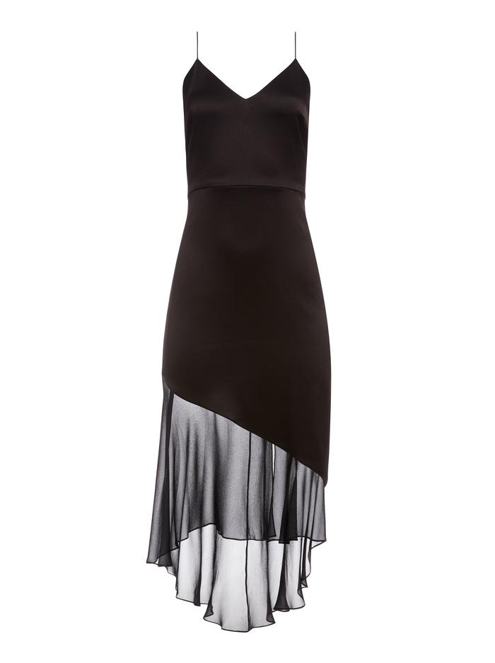 FELIPA ASYMMETRICAL SLIP DRESS - BLACK - Alice And Olivia