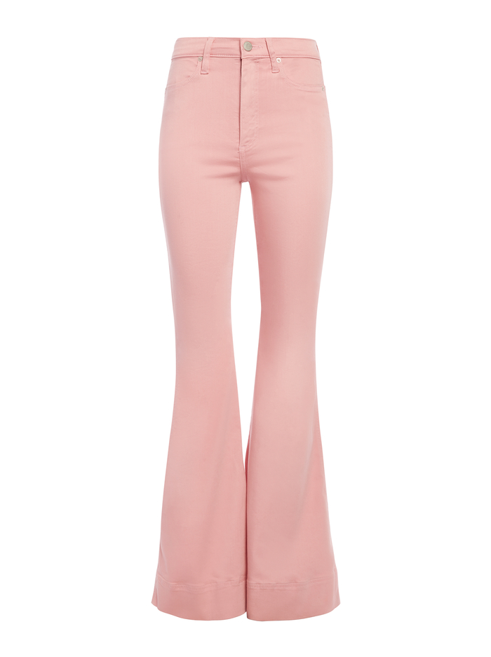 BEAUTIFUL HIGH RISE BELL JEAN - MILLENNIAL PINK - Alice And Olivia
