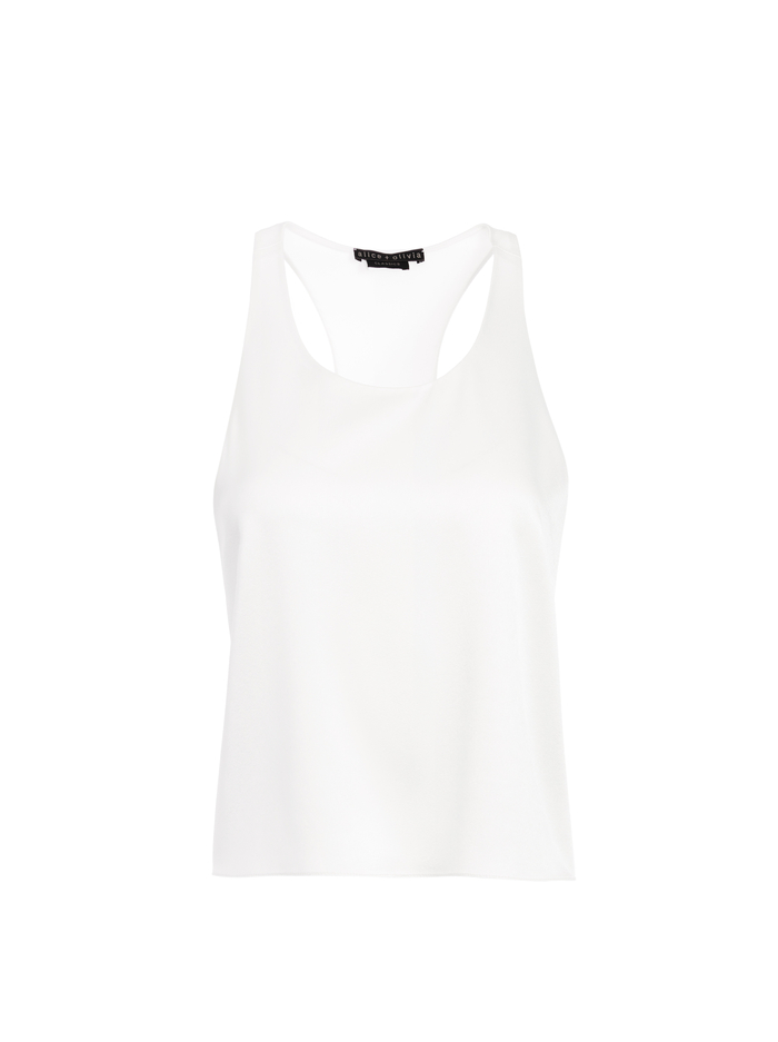 REIKO RACERBACK TANK - OFF WHITE - Alice And Olivia