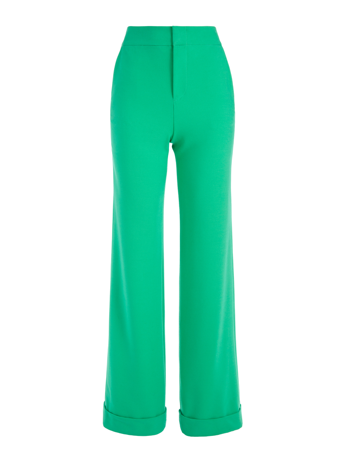 DYLAN HIGH WAISTED WIDE LEG PANT - MINT KELLY - Alice And Olivia