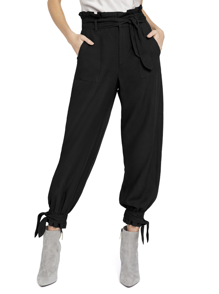LIAM PAPERBAG PANT - BLACK - Alice And Olivia
