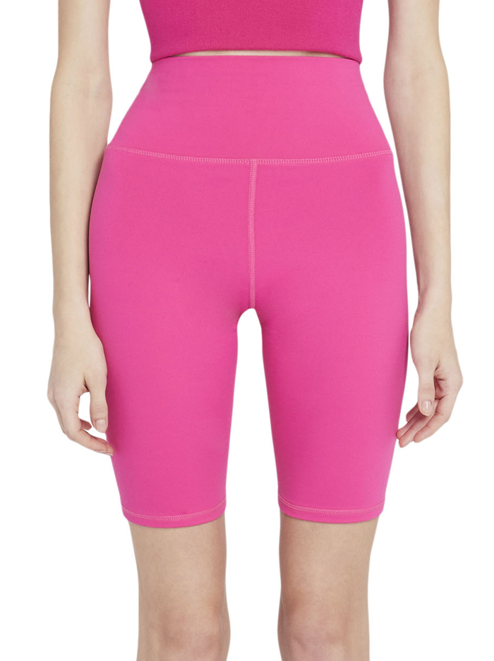 AARON HIGH WAISTED BIKER SHORT - WILD PINK - Alice And Olivia