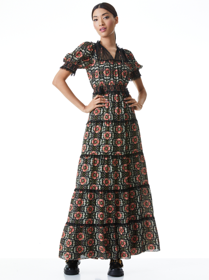 LYNLEY PUFF SLEEVE MAXI DRESS - PROMISE FLORAL - Alice And Olivia