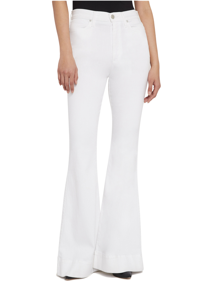 BEAUTIFUL HIGH RISE BELL JEAN - WHITE - Alice And Olivia