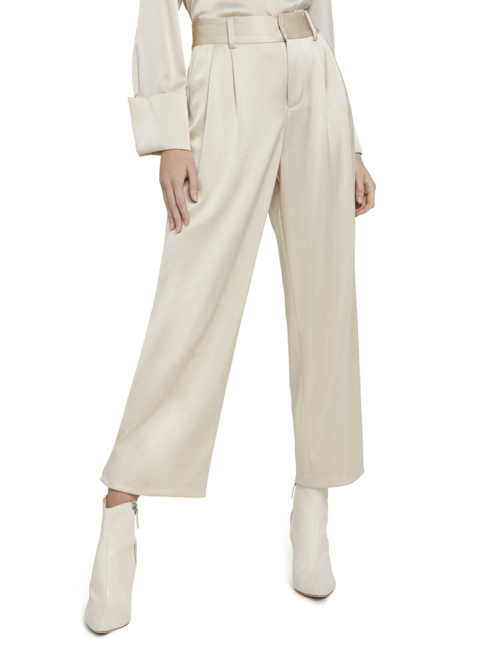 TROY SNAP CUFF PANT - TAUPE - Alice And Olivia