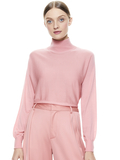 DIA CROPPED SWEATER - ROSE