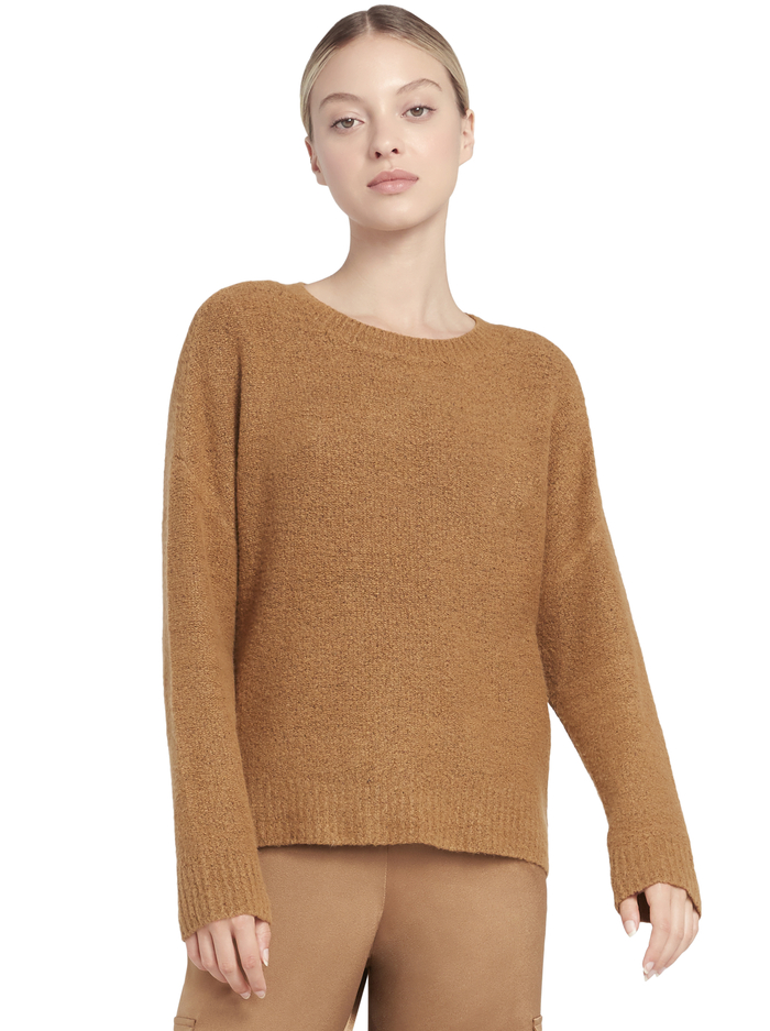 ROMA OVERSIZED PULLOVER - CAMEL - Alice And Olivia