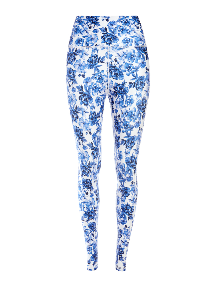 AARON HIGH WAIST LEGGING - FORGET ME NOT LG ANTIQUE WHITE - Alice And Olivia