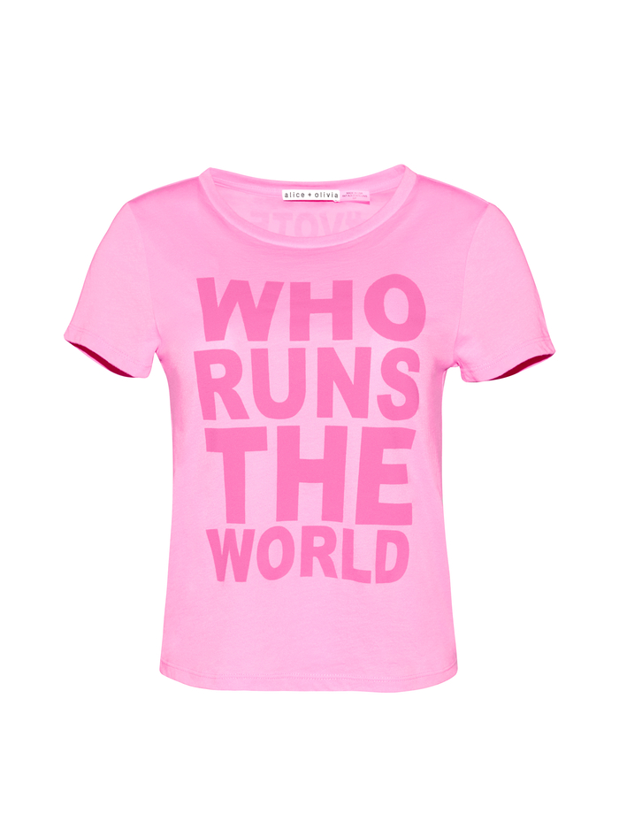 CICELY CLASSIC TEE - PINK/PINK - Alice And Olivia