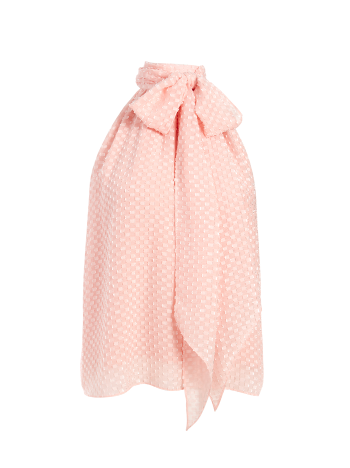 LIANA TIE NECK TOP - ENGLISH ROSE - Alice And Olivia