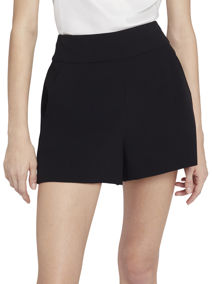 DONALD HIGH WAISTED SHORTS - BLACK - Alice And Olivia