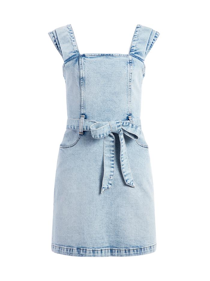 GORGEOUS PLEATED MINI DRESS - BABY BLUES - Alice And Olivia
