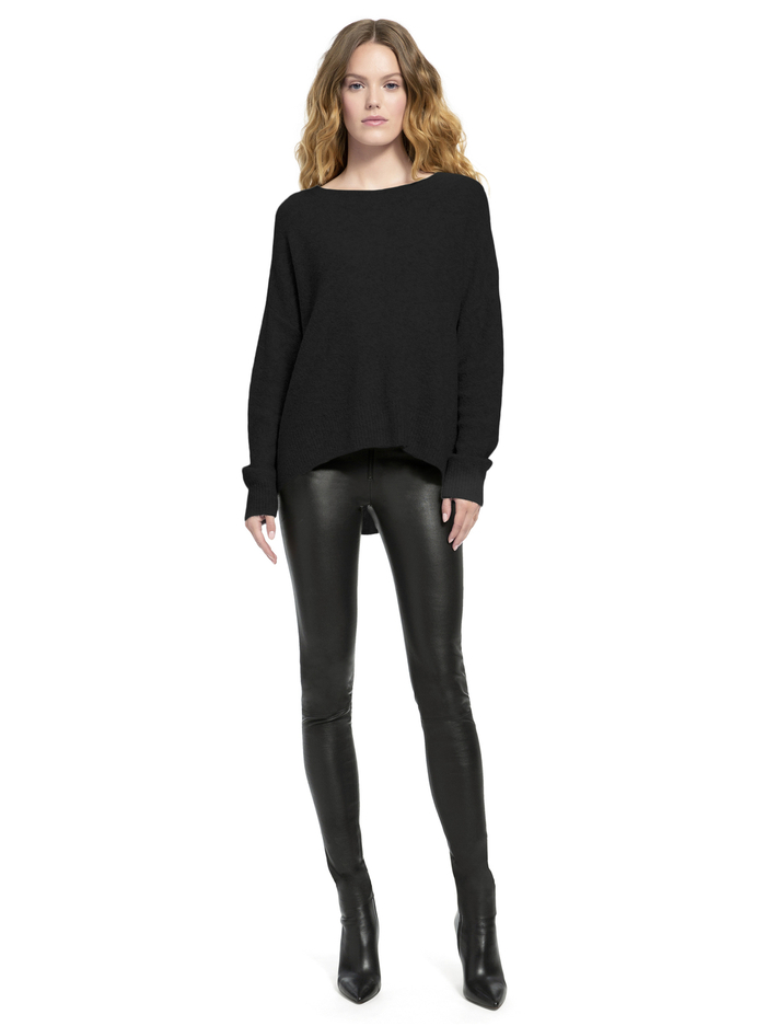 ROMA SLOUCHY PULLOVER - BLACK - Alice And Olivia