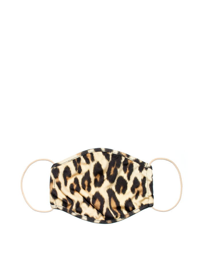 PROTECTIVE FACE MASK - TEXTURED LEOPARD - Alice And Olivia