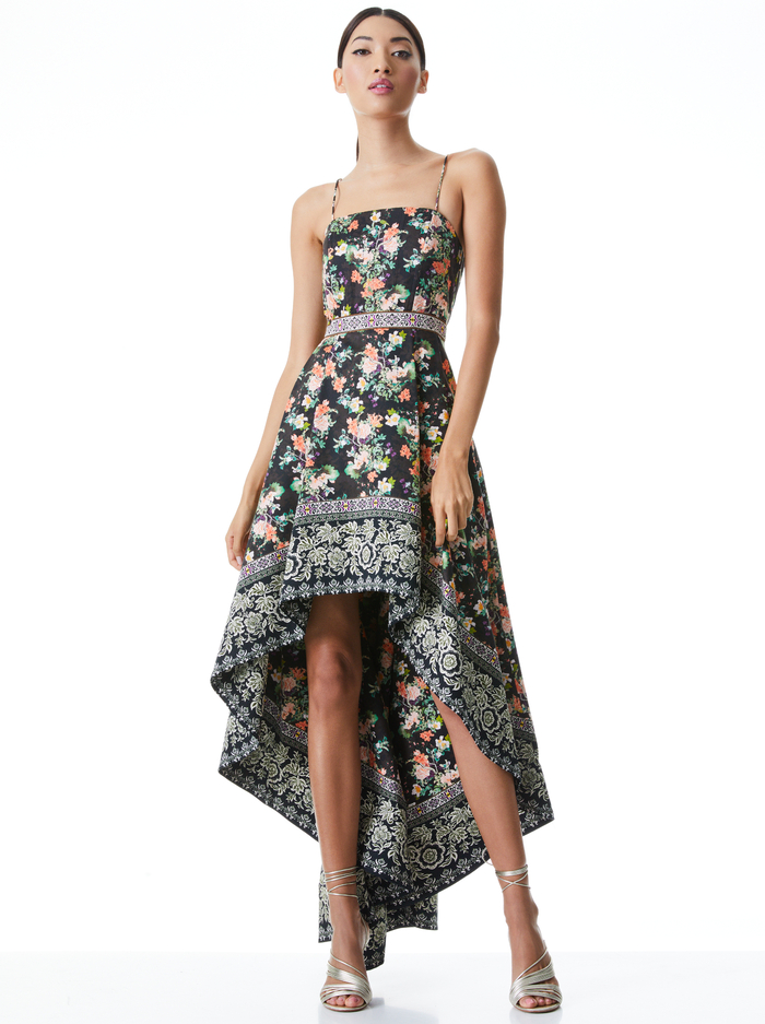 FLORENCE HIGH LOW GOWN - DREAM CASTLE MULTI - Alice And Olivia