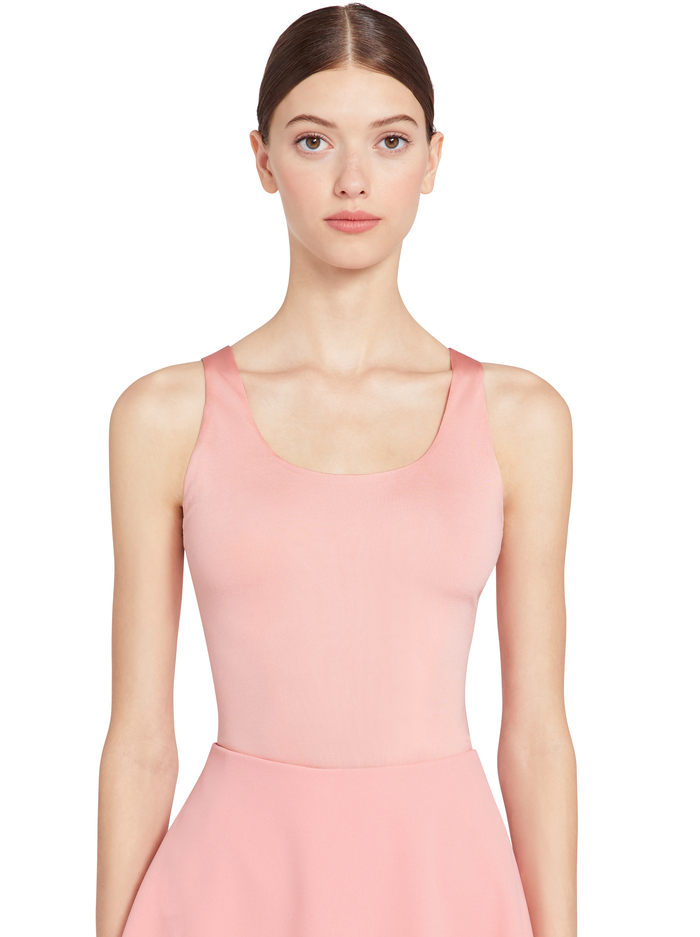 ARONA LOW SCOOP BODYSUIT - BLUSH - Alice And Olivia