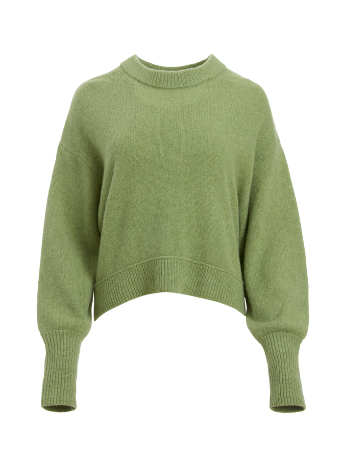 DENVER ROUND HEM SWEATER - SAGE - Alice And Olivia