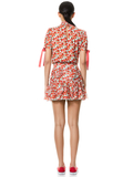 SHERLEY FLORAL MINI SKIRT - FORGET ME NOT SM BRIGHT POPPY