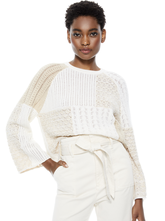MARTHA BELL SLEEVE PULLOVER -  - Alice And Olivia