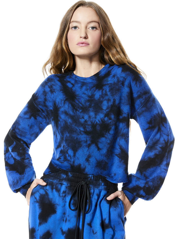 ANSLEY TIE DYE PULLOVER - NAVY/BLACK - Alice And Olivia