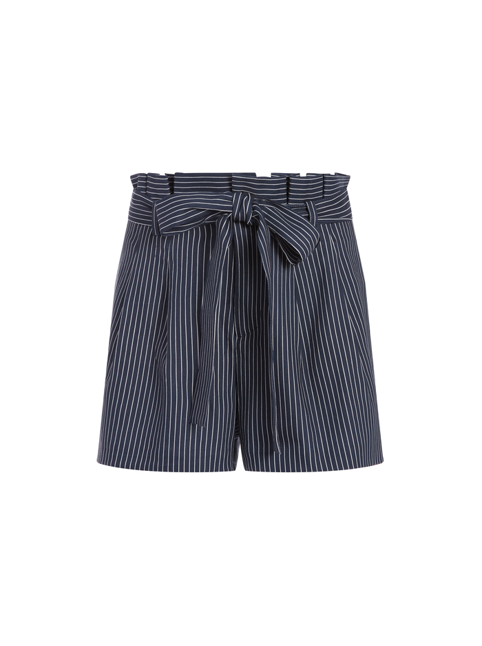 LAURINE PAPER BAG SHORTS - LOVE ME STRIPE - Alice And Olivia