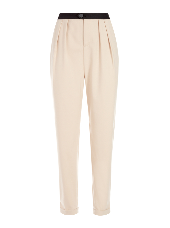 ROY PLEATED FRONT PANT - SEPIA - Alice And Olivia
