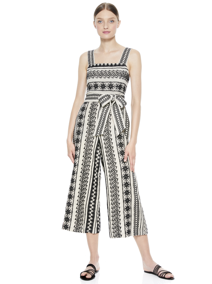 LUCIE JUMPSUIT WITH BELT -  - Alice And Olivia