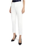 STACEY SLIM TROUSER - WHITE