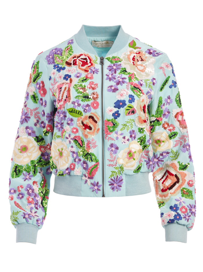 LONNIE EMBROIDERED BOMBER JACKET - MULTI - Alice And Olivia