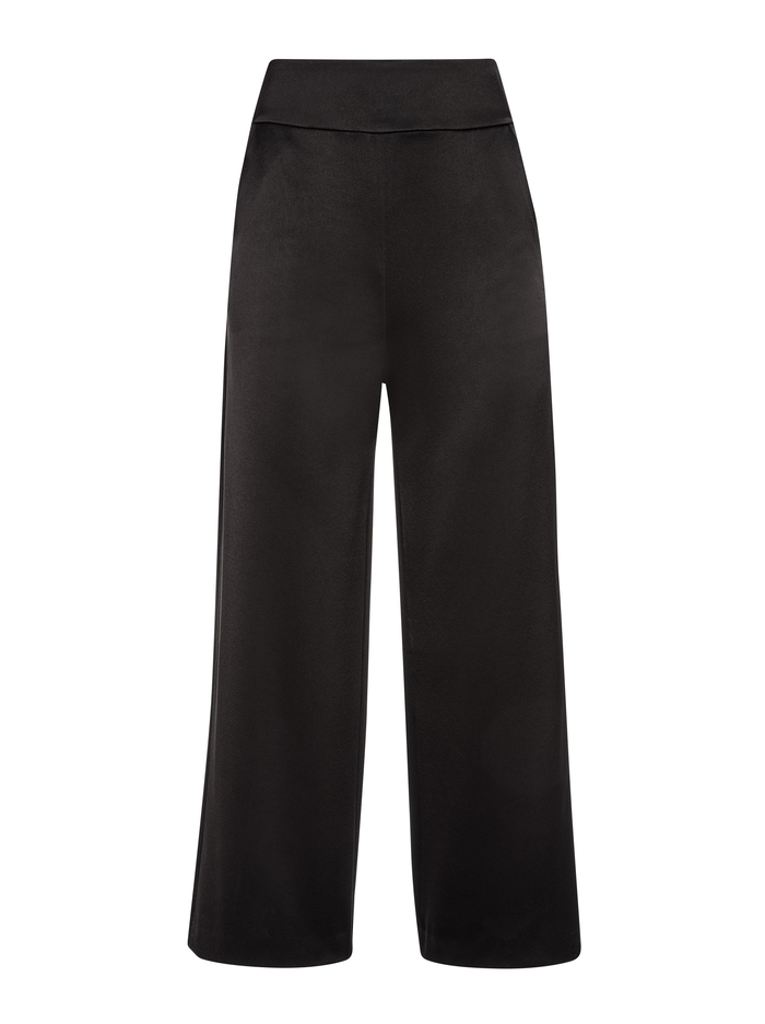 DONALD HIGH WAIST GAUCHO - BLACK - Alice And Olivia