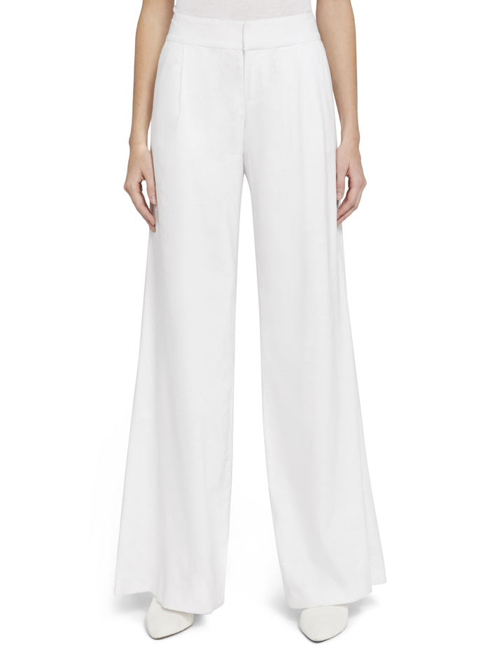 ERIC CLEAN WB PANT - WHITE - Alice And Olivia