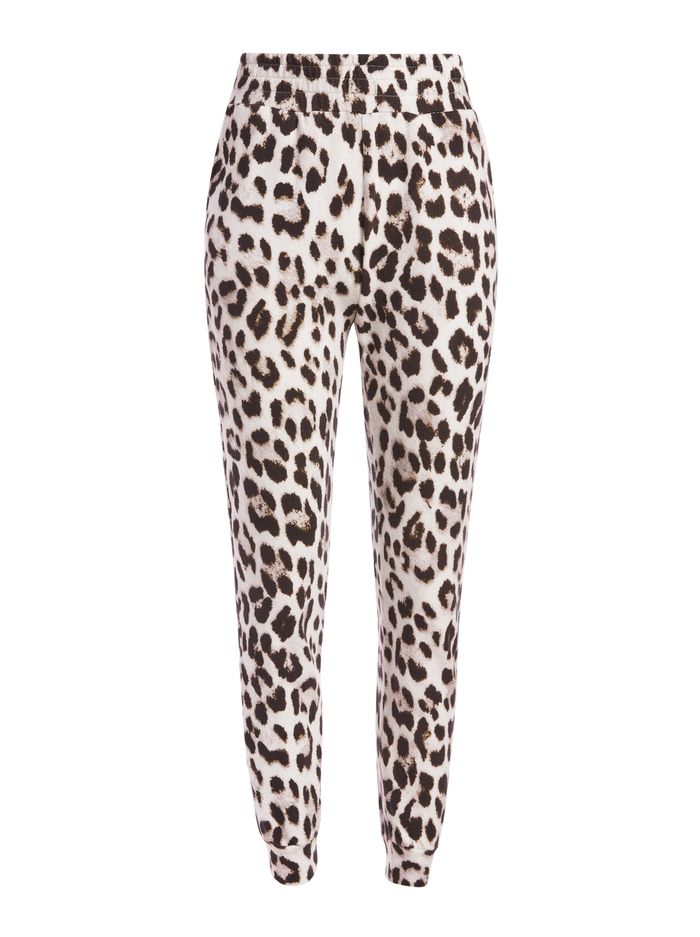 NYC LEOPARD SLIM JOGGER - ROYAL LEOPARD SM - Alice And Olivia