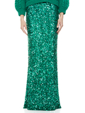 CHARITY SEQUIN GOWN SKIRT - DARK TEAL