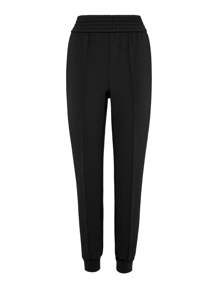 AO X TIKTOK RAMORA SKINNY JOGGER - BLACK/OFF WHITE - Alice And Olivia