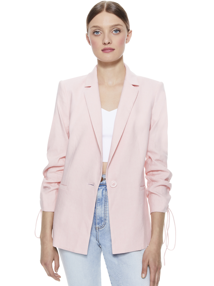 LESTER SCRUNCH SLEEVE BLAZER -  - Alice And Olivia