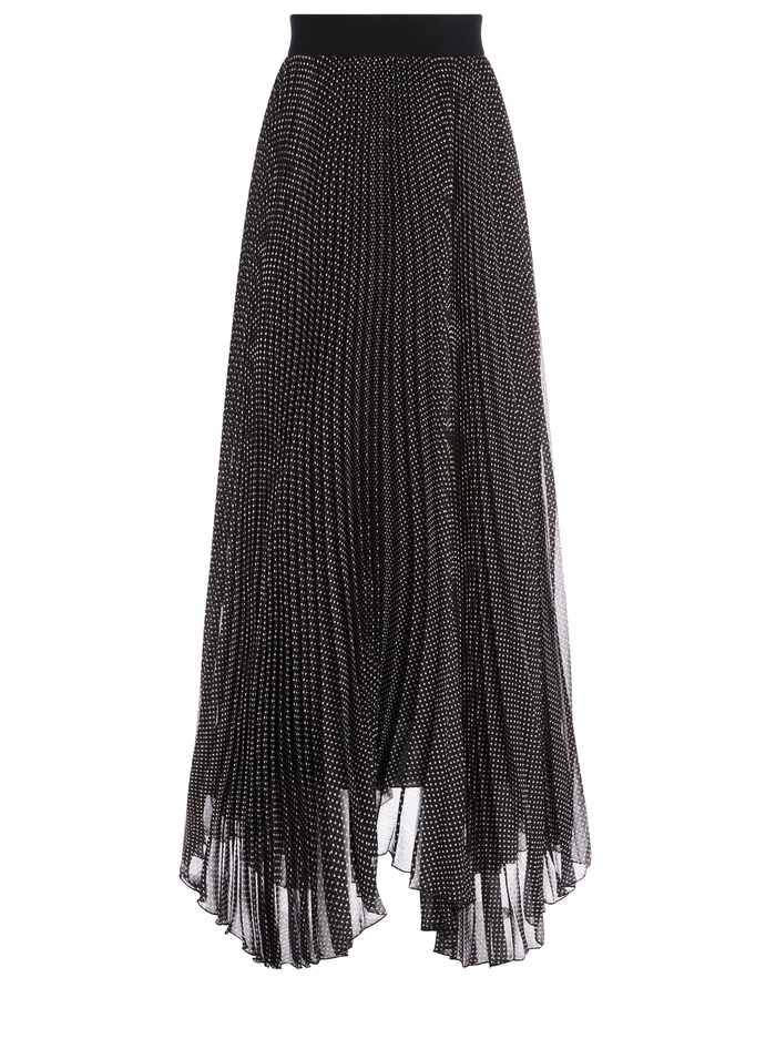 KATZ POLKA DOT MAXI SKIRT - MINI DOT BLACK - Alice And Olivia