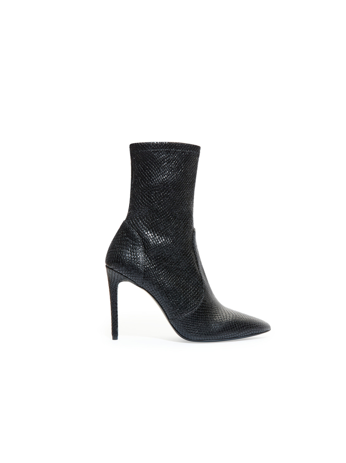 CORBY ANIMAL PRINT BOOTIE - BLACK - Alice And Olivia
