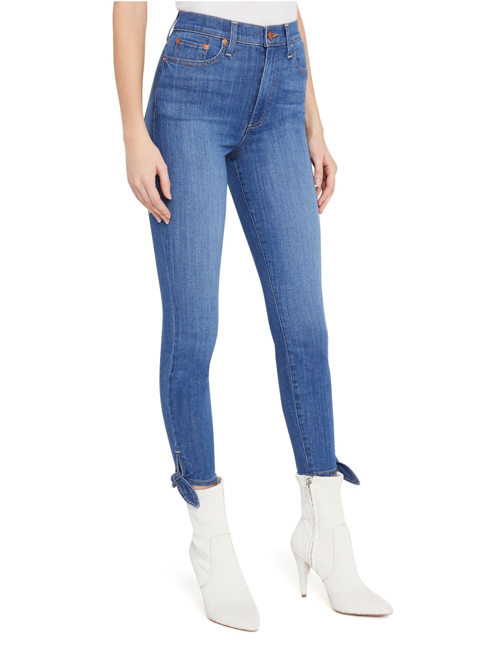 GOOD HIGH RISE ANKLE TIE JEAN - HEART AND SOUL - Alice And Olivia