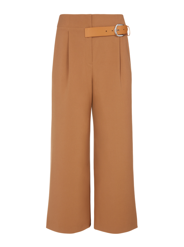 ADELINA BELTED PANT - CAMEL - Alice And Olivia