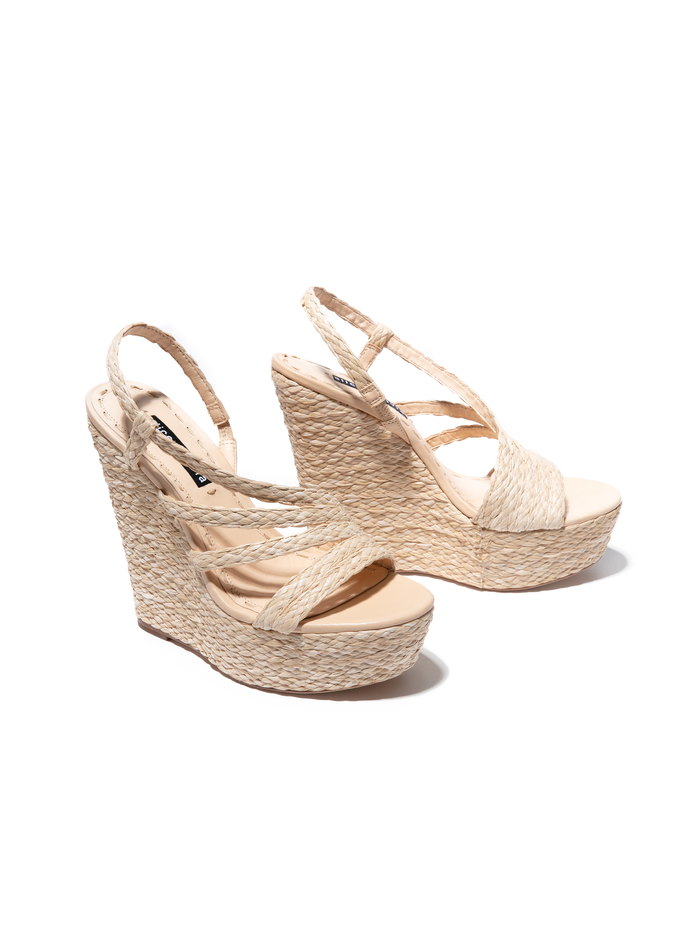 TENLEY WEDGE - LIGHT NATURAL/DESERTO - Alice And Olivia